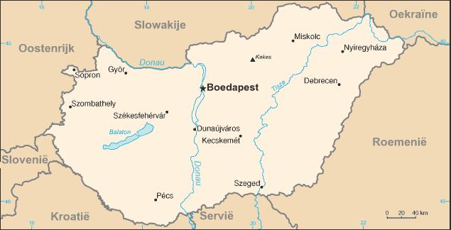 Kaart Hongarije Infrastructuur