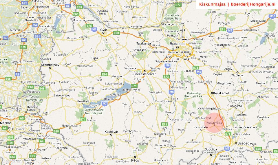 map kiskunmajsa land Route