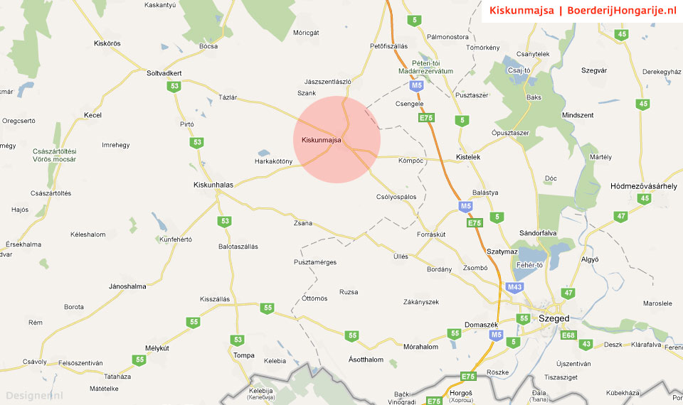map kiskunmajsa regio Route