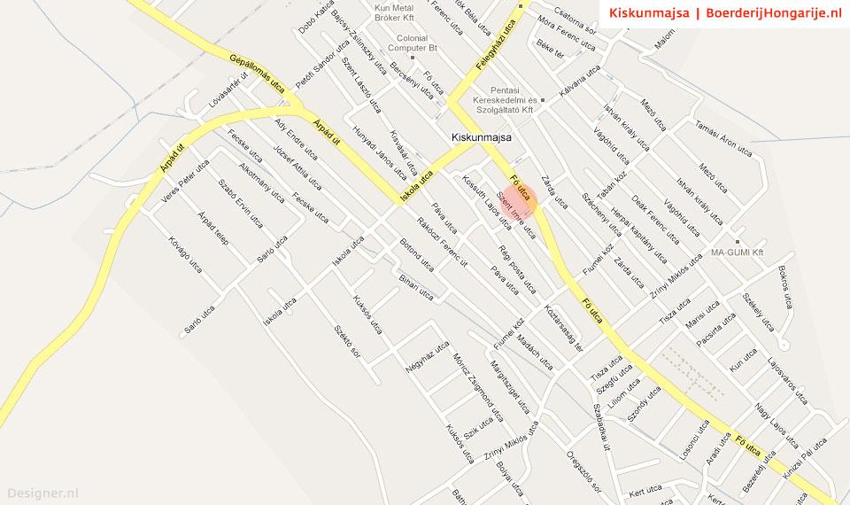 map kiskunmajsa stad Contact